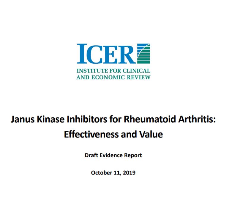 JAK Inhibitors for Rheumatoid Arthritis: Draft Evidence Report